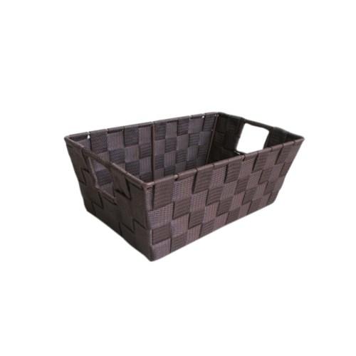 Brown- Small Woven Strap Bin ( 12 )