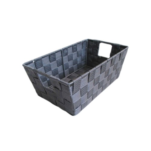 Grey- Small Woven Strap Bin( 12 )