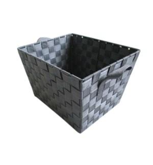 Grey - Med. Woven Strap Bin ( 12 )