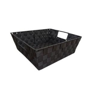 Black - Large Woven Strap Bin(12)