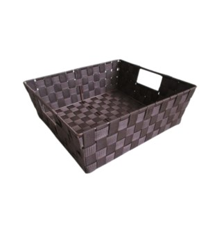 Brown- Large Woven Strap Bin ( 12 )
