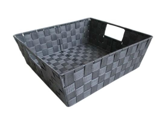 Grey- Large Woven Strap Bin ( 12 )