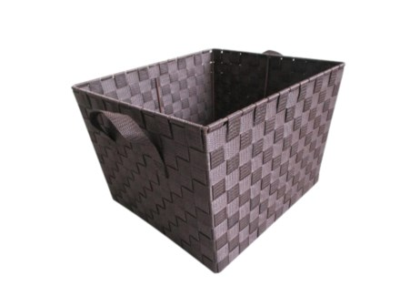 Brown -X Large Woven Strap Bin( 12 )