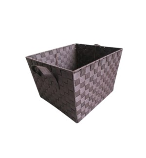 Brown - X Large Woven Strap Bin( 12 )