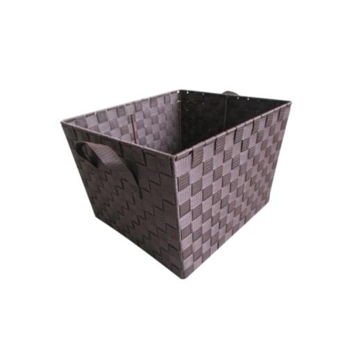 Brown -X Large Woven Strap Bin( 12 )