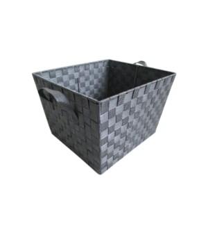 Grey -X Large Woven Strap Bin ( 12 )