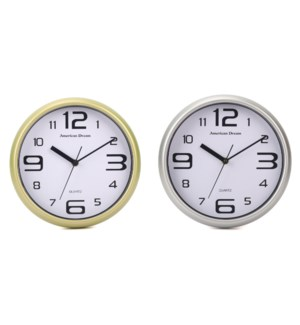 "10"" No-Ticking Wall Clock (10)"