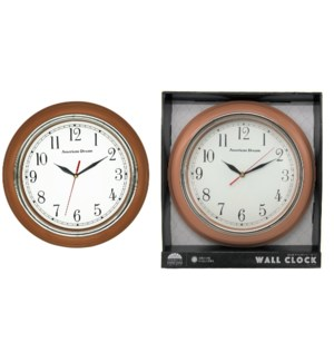 "13"" Brown Wall Clock (10)"