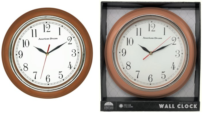 13-inch Wood-Look Wall Clock (10)