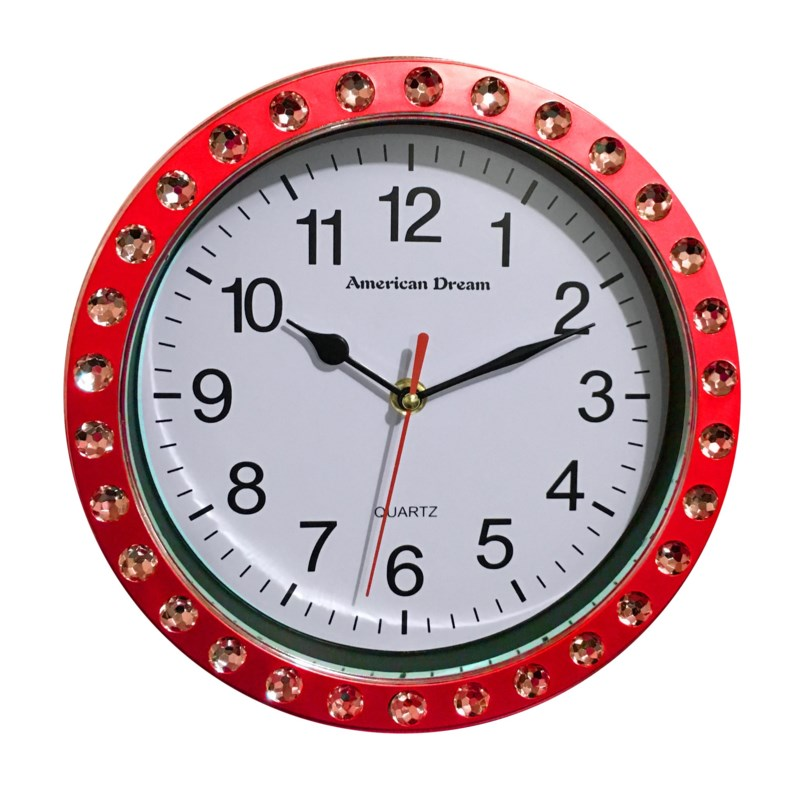 9-inch Diamond Wall clock ( 12 ) Color Assorted