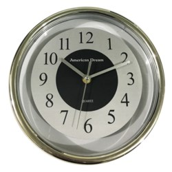 """9"""" Round Clear Wall Clock (10)"""
