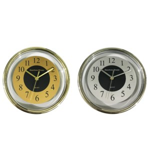 "9"" Round Clear Wall Clock (10)"