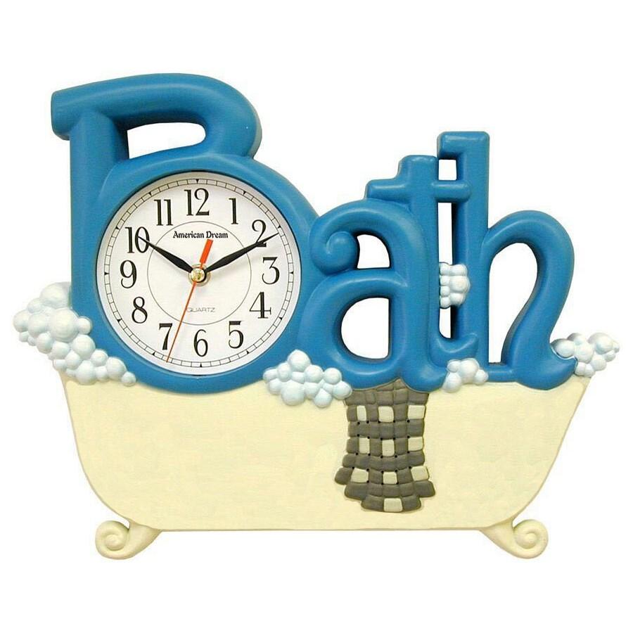 Bath Wall clock (6) Color Assorted
