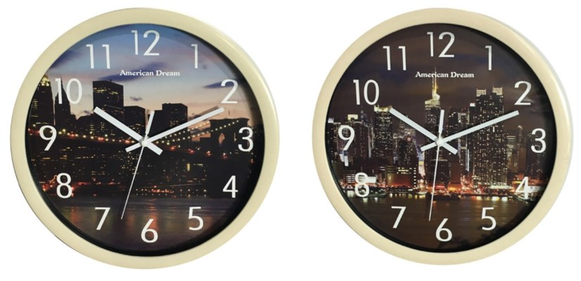 12-inch City Bridge Night Life and Manhattan Night Clock ( 10 ) Assorted