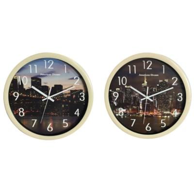 12-inch City Bridge Night Life and Manhattan Night Clock ( 10 ) Assorted