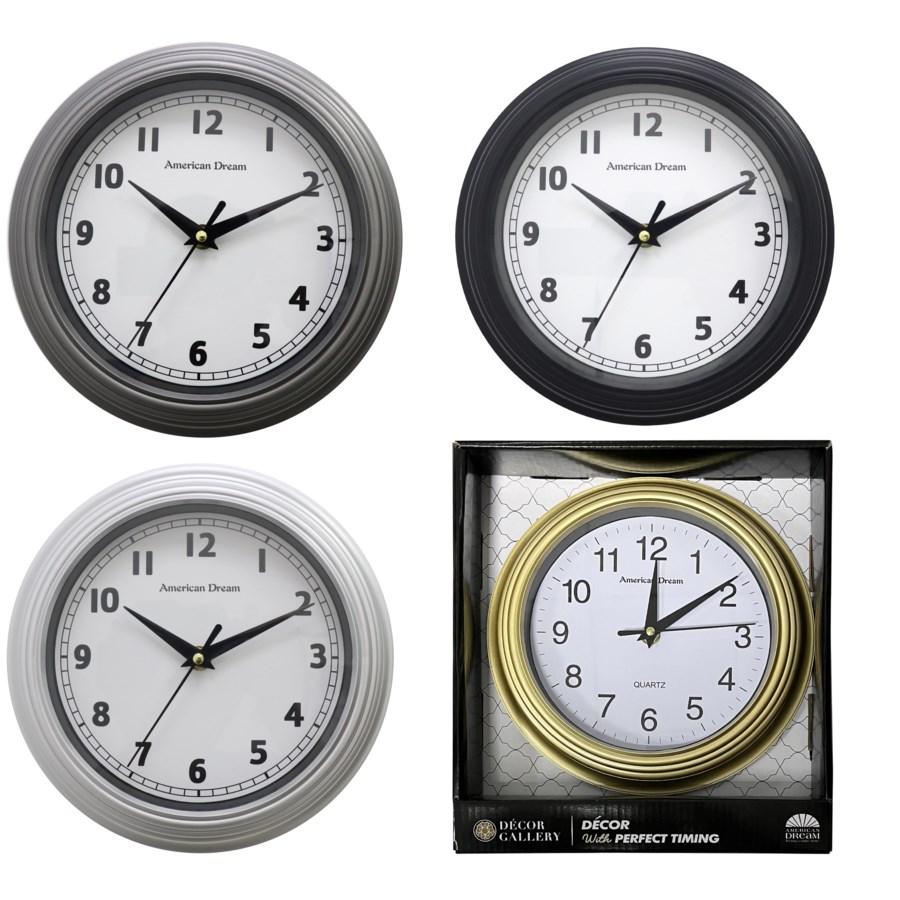 "Home Goods Clocks: 9"" Round Wall Clock ( 12 )"