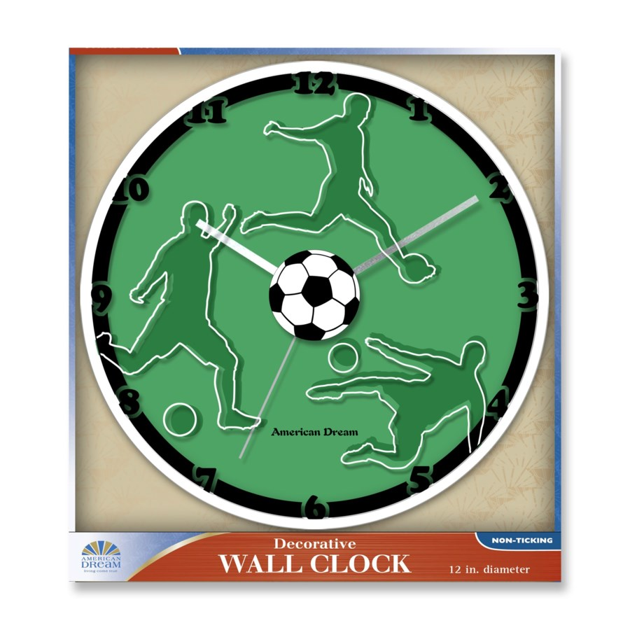 12-inch Sports Clock ( 10 ) Assorted