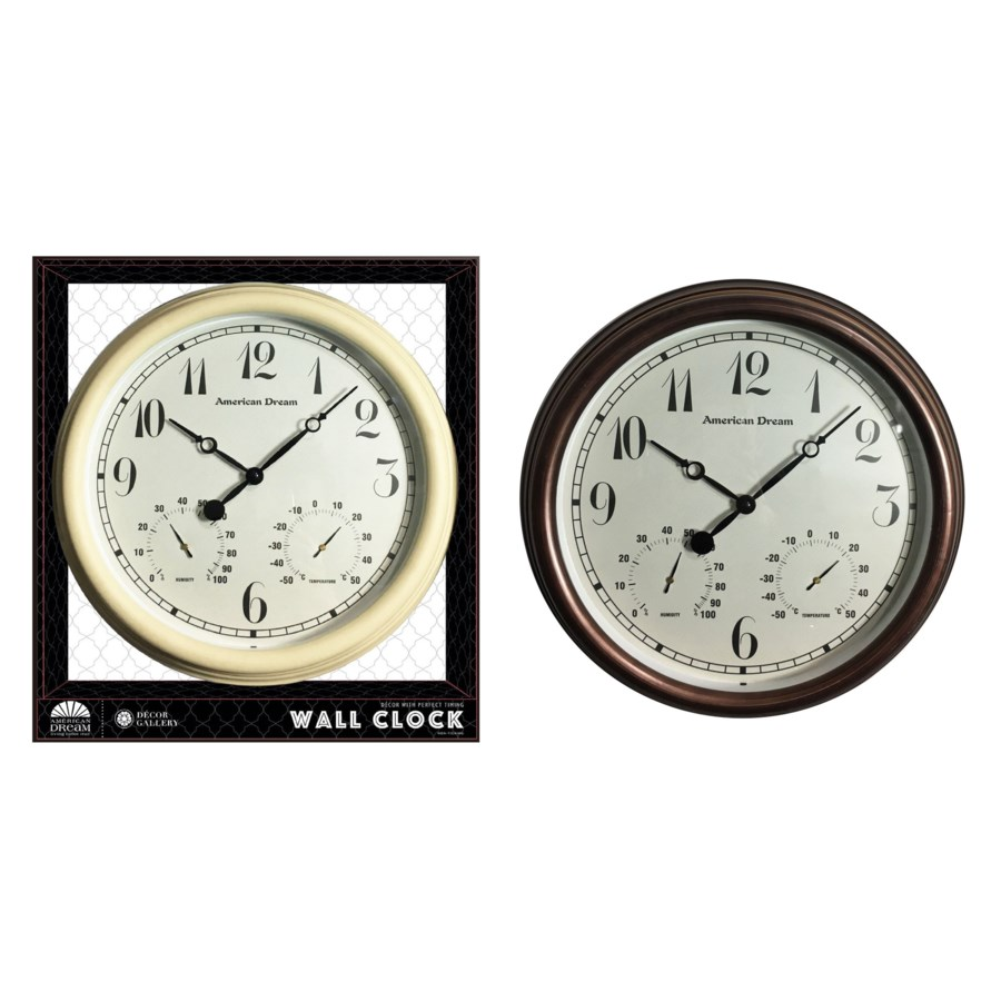 No Ticking - 15-inch Antique Wall clock ( 6 ) Assorted