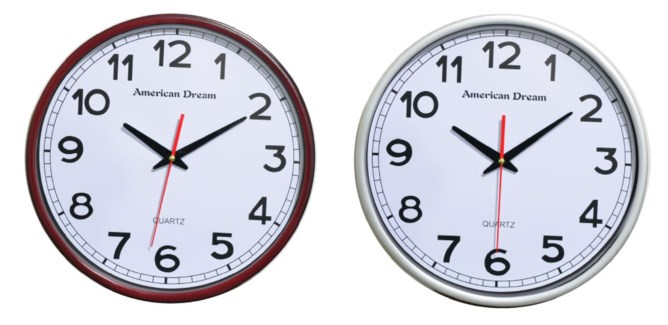 15-inch Contenporary Wall clock  (6) Assorted