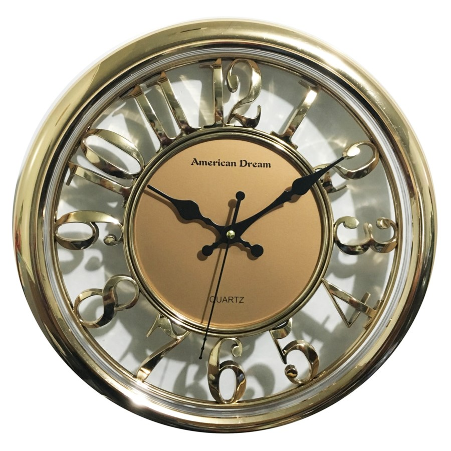14-inch No-Ticking Wall clock ( 6 ) Assorted