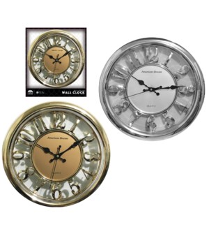 "14"" Non-Ticking Wall clock ( 6 )"