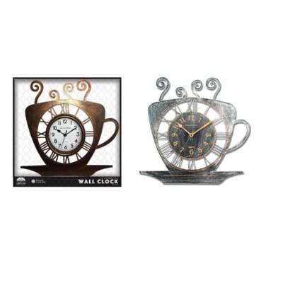 15-inch Tea Cup Wall Clock (6) Assorted