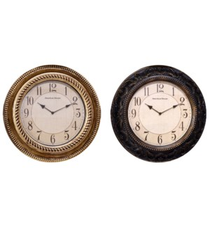 "20"" Non-Ticking Antique Wall Clock (3)"