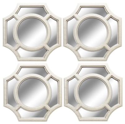 10-inch Silver Wall Mirror,4pcs/Set ( 6 sets )