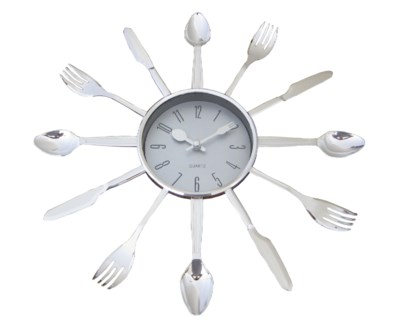 13-inch Kitchen chrome Wall clock ( 10 )