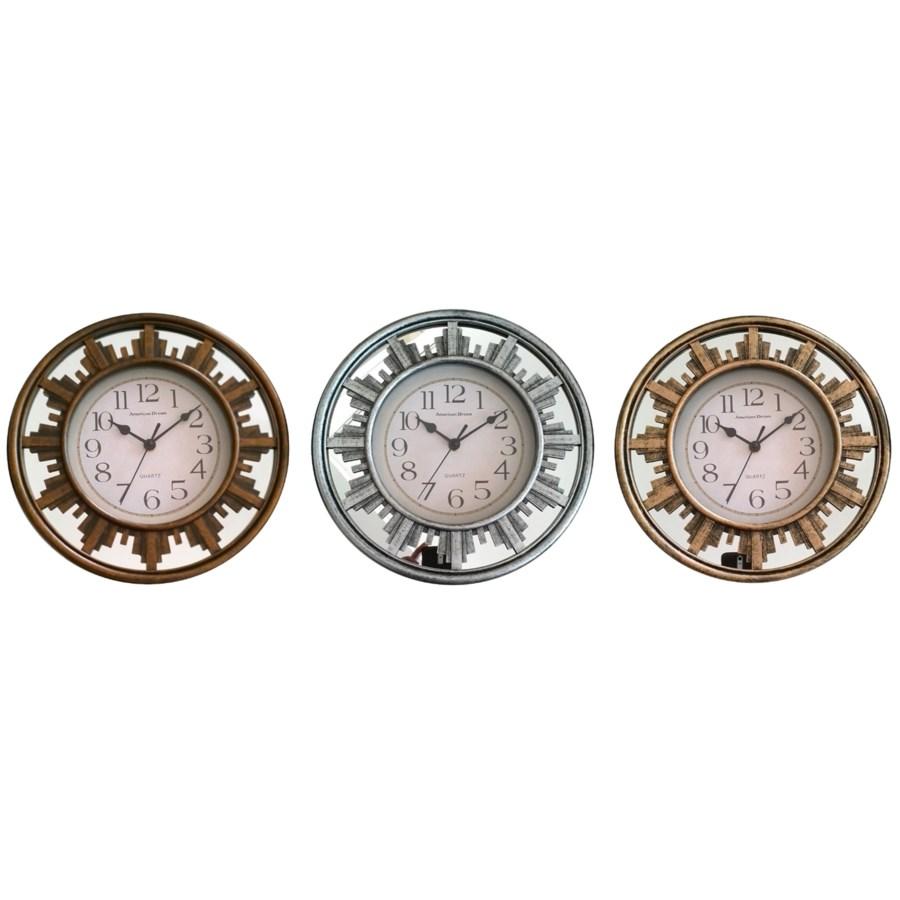 11.8-inch Mirror wall clock ( 10 ) Assorted