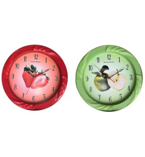 "13"" Fruit Wall Clock ( 10 )"