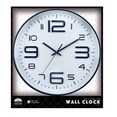 12-inch Round Wall clock ( 10 ) Assorted