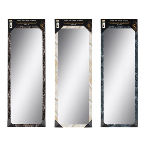36-inch Beige Over the door  Mirror ( 6 )