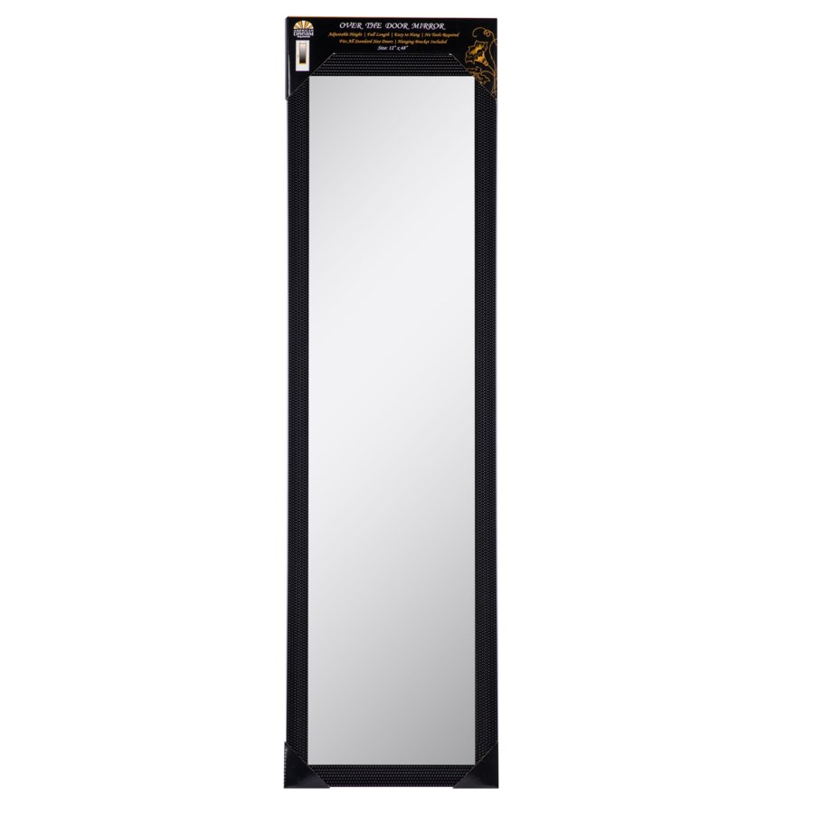 48-inch Black Over the door  Mirror ( 6 )