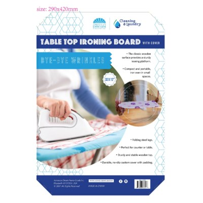 32-inch Table-top Ironing Board (6) 4 Colors Assorted