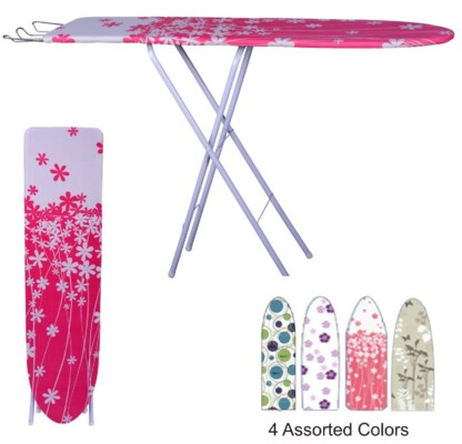 48-inch Wooden Ironing Board (4) 4 Colors Assorted