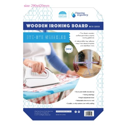54-inch Wooden Ironing Board (4) 4 Colors Assorted