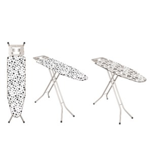 "43""x13"" Metal top ironing board with metal plate iron rest (4)"