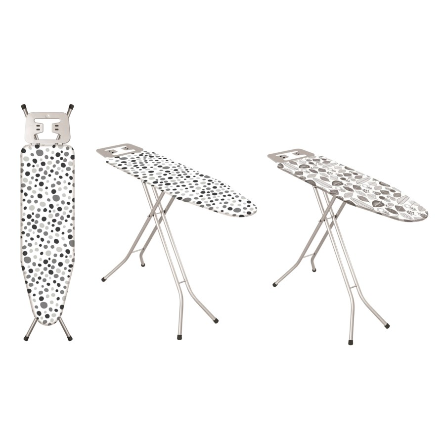 """43""""x13"""" Metal top ironing board with metal plate iron rest (4)"""