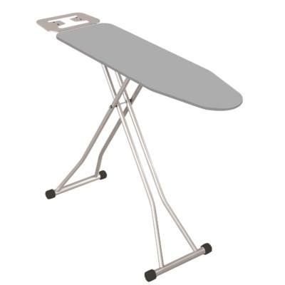 "41""x12"" Metal top ironing board with metal plate iron rest, T Leg (4)"