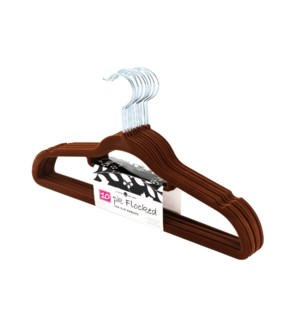 10PC Brown Velvet Suit Hanger ( 12 Set )
