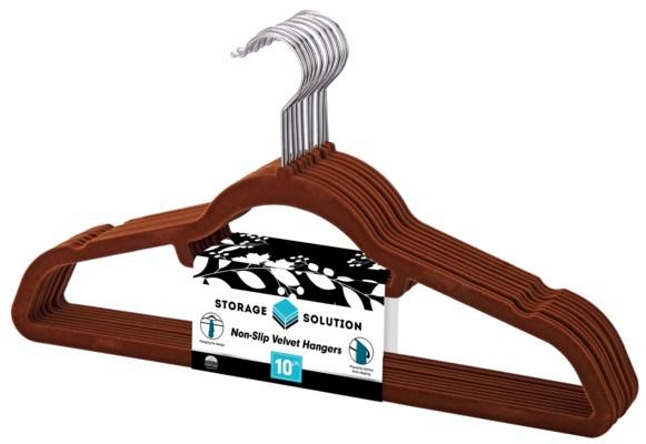 10PC Brown Velvet Suit Hanger ( 12 Set )