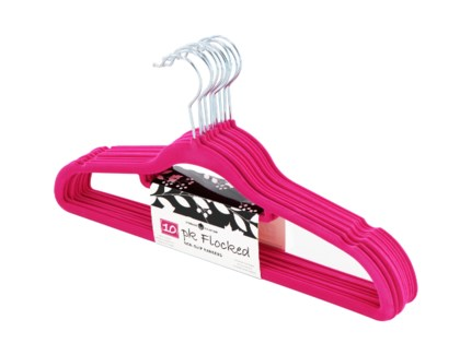 10PC Fuchsia Velvet Suit Hanger ( 12 Set )