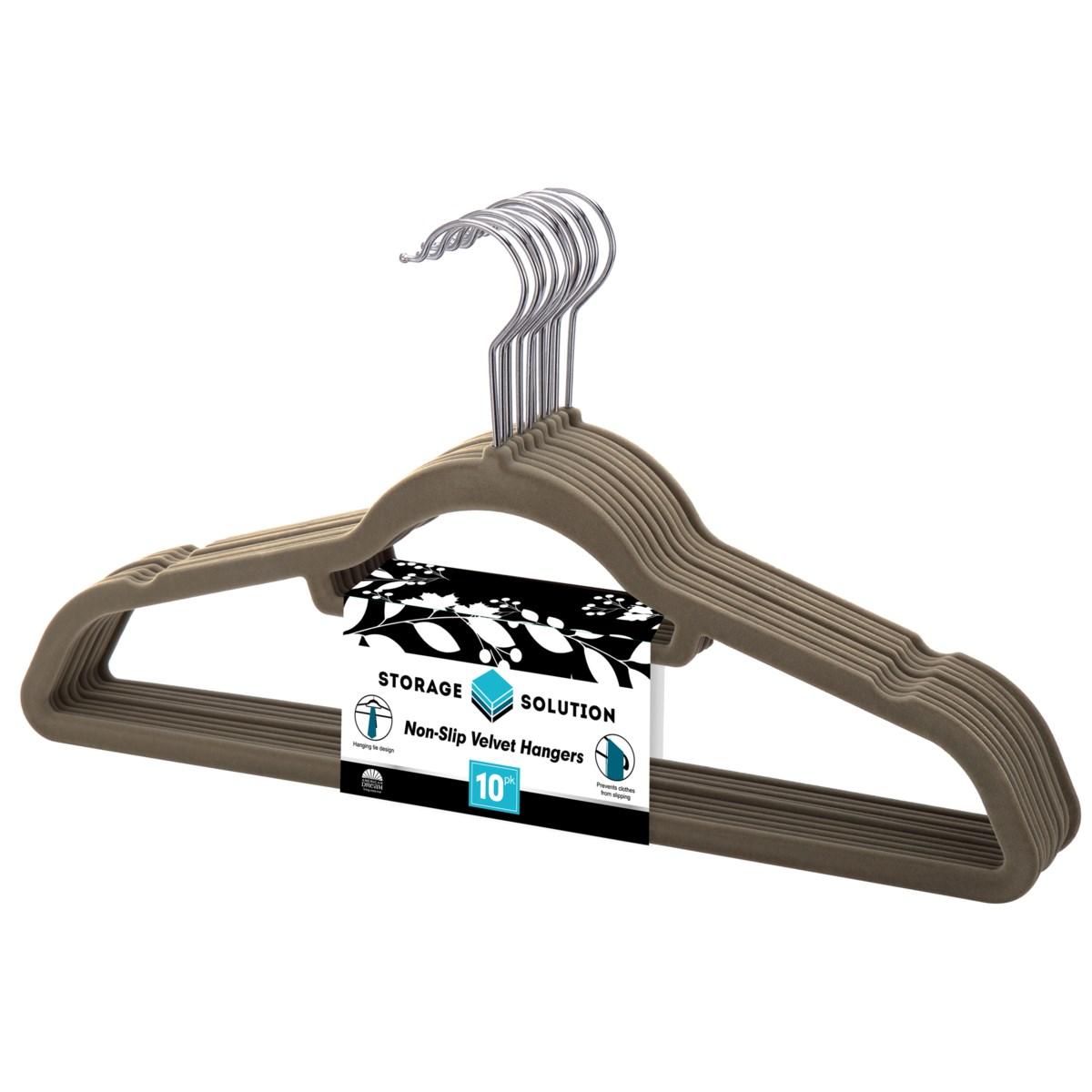 10PC Grey Velvet Suit Hanger ( 12 Set )