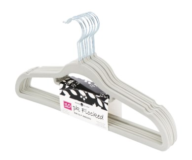 10PC Ivory Velvet Suit Hanger ( 12 Set )