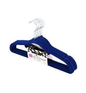 10PC Navy Blue Velvet Suit Hanger (12set )
