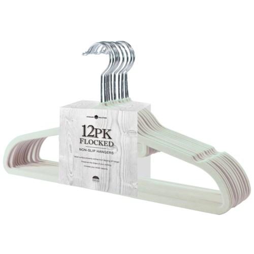 12PC Ivory Velvet Suit Hanger (12Sets)