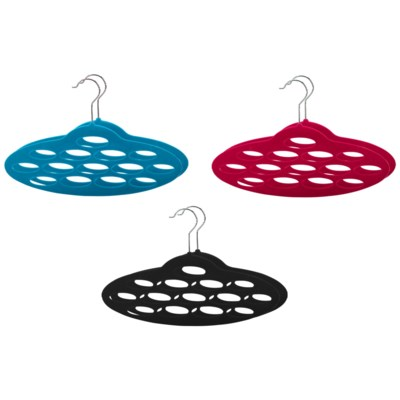 2PC  Velvet Scarf Hanger ( 12 Set ) 3 Colors Assorted