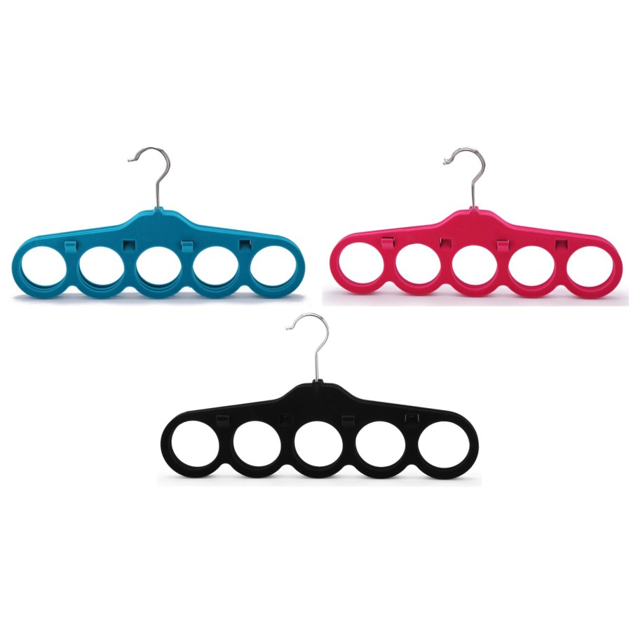 4Pc  Velvet Scarf Hanger  ( 12 Set ) 3 Colors Assorted