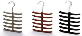3PC  Velvet Tie Hanger  ( 12 Set ) 3 Colors Assorted